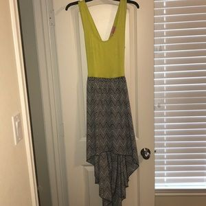 Neon green tribal dress